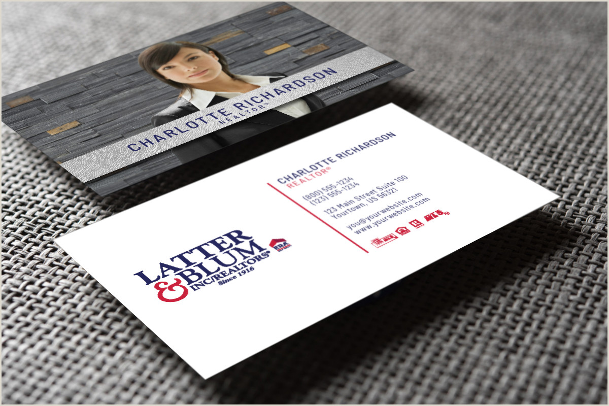 Real Estate Business Cards Samples Check Out Our New Latter And Blum Business Cards Realtor