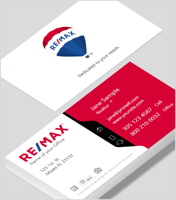 Real Estate Business Cards Samples Modern Contemporary Business Card Design Remax White Red