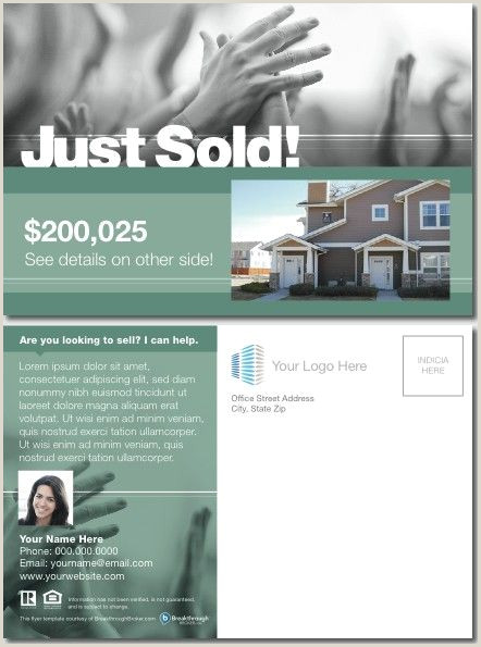 Real Estate Card Ideas 56 Lovely Just Sold Postcard Wording