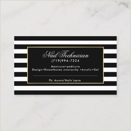 Referral Business Cards Unique Floral Pink Black And White Striped Referral Business Card