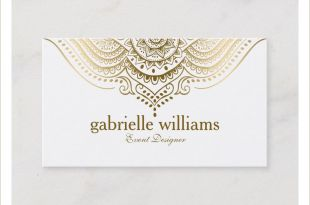 Referral Business Cards Unique Gold Lace Paisley Mandala Business Card