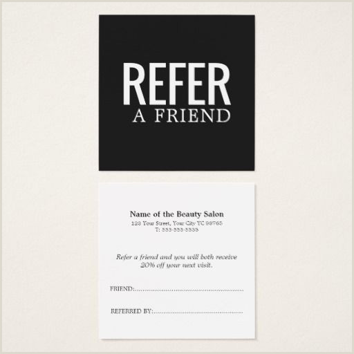 Referral Business Cards Unique Simple Elegant Black And White Referral Card