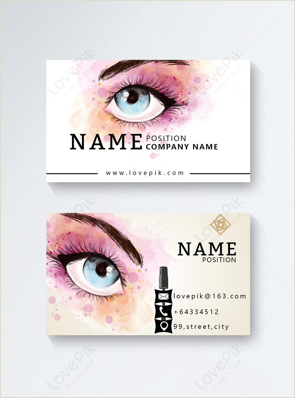 Sample Artist Business Cards Makeup Artist Business Cards Template Image Picture Free