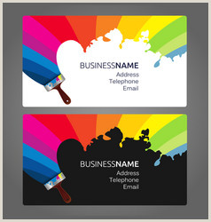 Sample Artist Business Cards Painting Artist Business Card Vector Over 4 700