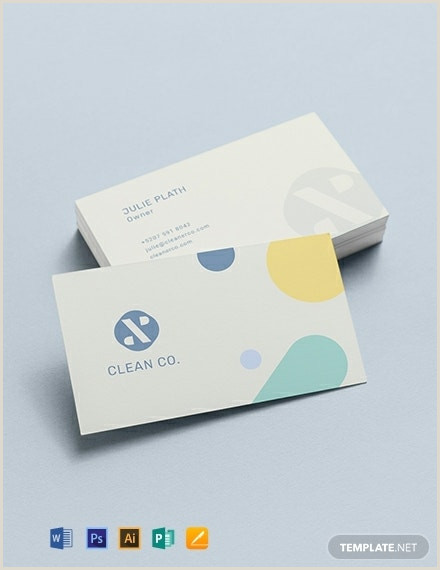 Samples Of Cleaning Business Cards 10 Cleaning Business Card Templates Illustrator Pages