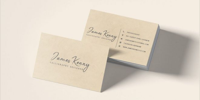 Samples Of Cleaning Business Cards Free Minimal Designer Business Card Template