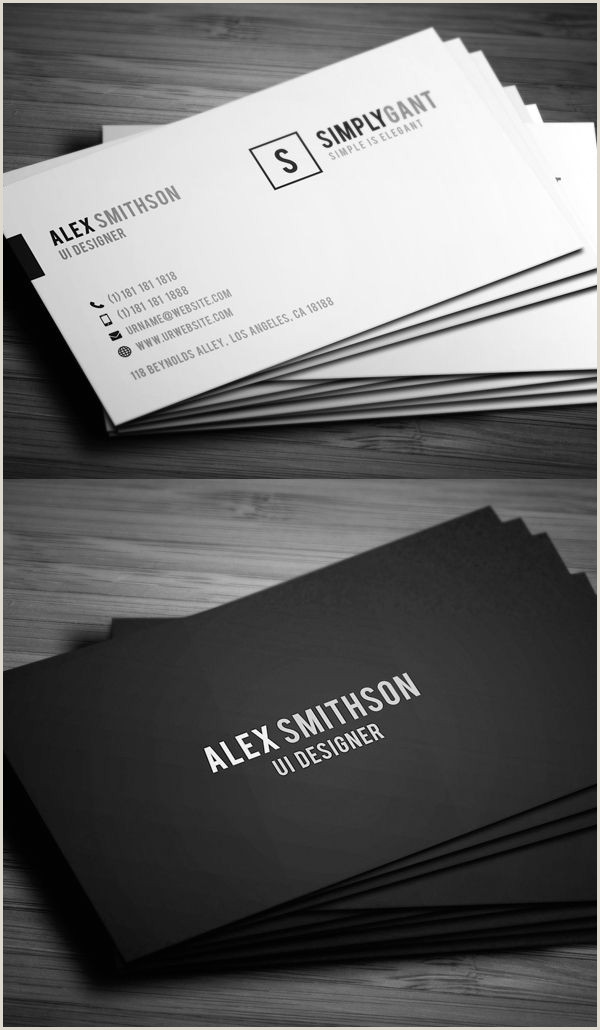 Simple Business Card Examples 25 New Modern Business Card Templates Print Ready Design