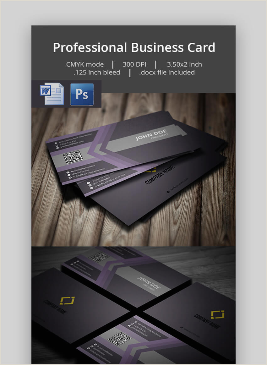 Simple Business Card Template Word 25 Free Microsoft Word Business Card Templates Printable