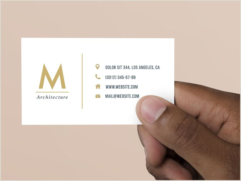 Simple Business Card Template Word Free Basic Business Card Psd Template