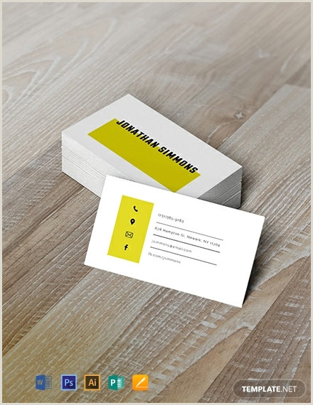 Simple Business Card Templates Free Simple Business Card Template Word Doc