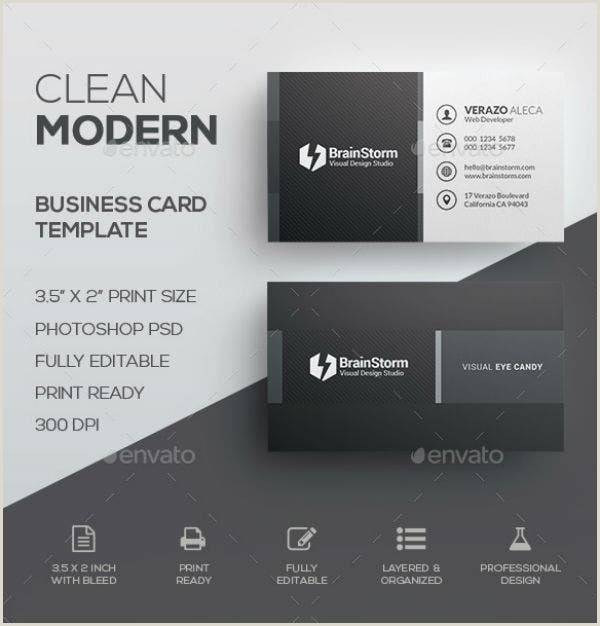 Simple Clean Business Card 11 Simple And Clean Business Card Templates