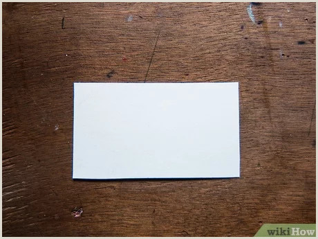Simple Clean Business Card 3 Ways To Make A Business Card Wikihow