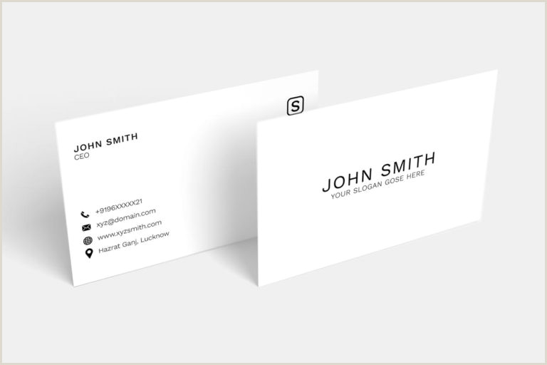 Simple Clean Business Card 30 Clean Minimalistic Business Card Psd Templates