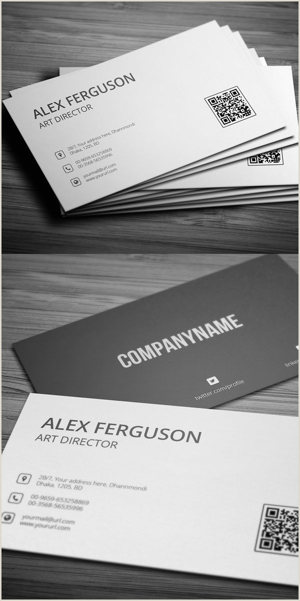 Simple Clean Business Card Creative Business Card Psd Templates 26 New Design