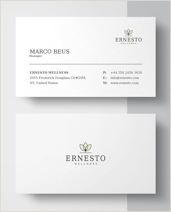 Simple Clean Business Card New Printable Business Card Templates