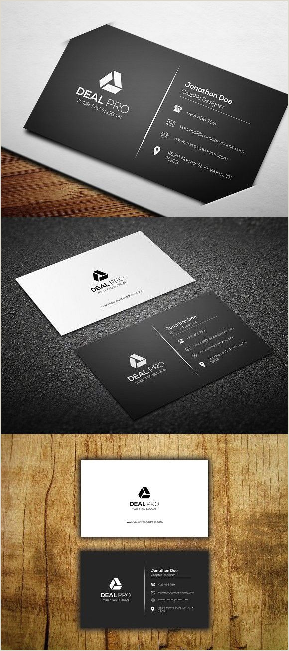 Simple Clean Business Card Simple Business Card Template