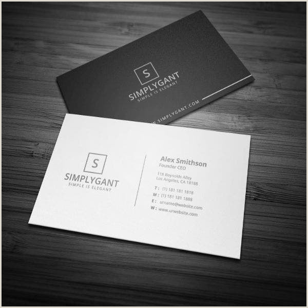 Simple Clean Business Cards 11 Simple And Clean Business Card Templates