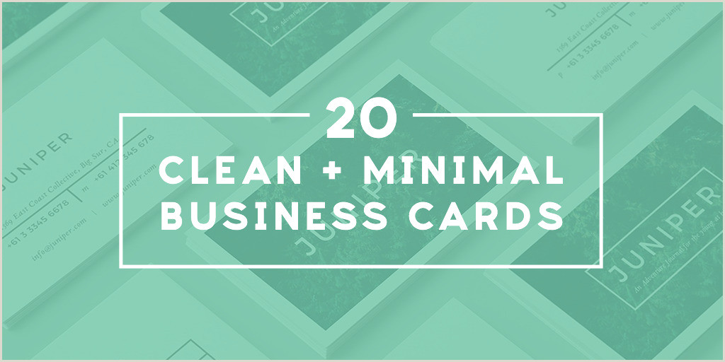 Simple Clean Business Cards 20 Clean And Minimal Business Cards That Stand Out