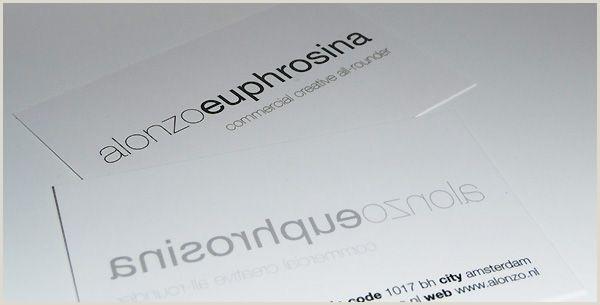 Simple Clean Business Cards Alonzo Euphrosina