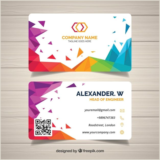 Simple Clean Business Cards Download Abstract Business Card For Free