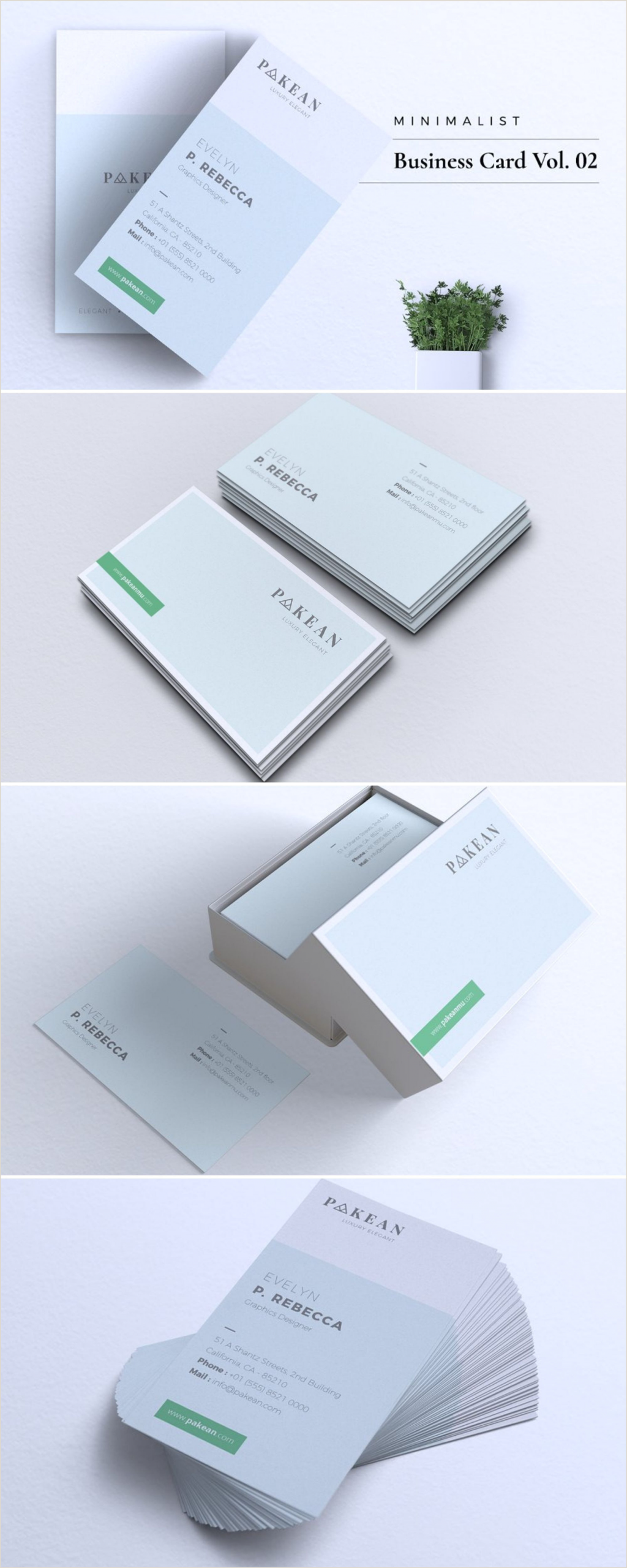 Simple Clean Business Cards Minimalist Business Card Vol 02
