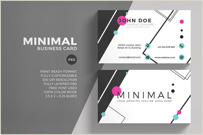 Simple Clean Business Cards Simple Clean Business Card By Eightonesixstudios On Envato Elements