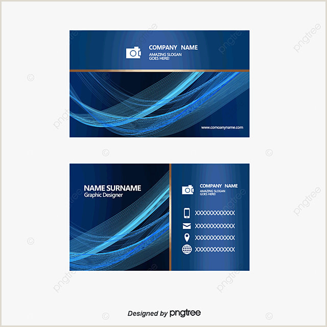Simple Clean Business Cards Vector Blue Business Card Background Free Premium Vector