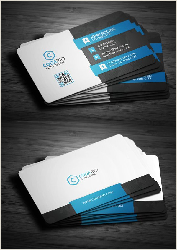 Simple Professional Business Cards 25 New Professional Business Card Templates Print Ready
