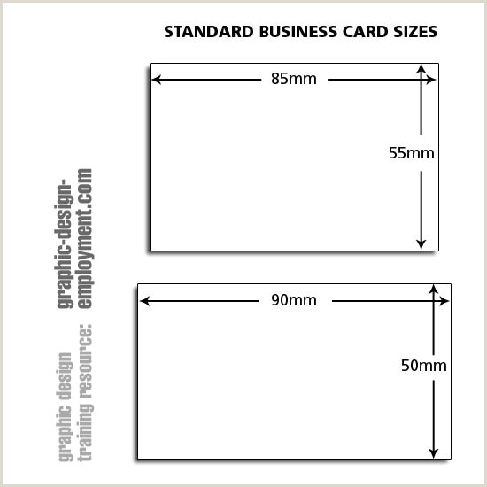 Size Of Normal Business Card Business Card Standard Sizes