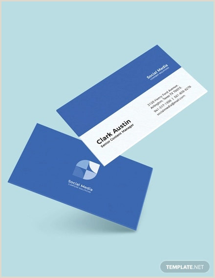 Social Media Best Business Cards Free Templetes 13 Social Media Business Card Templates Psd Word Ai