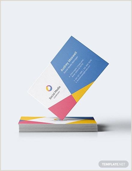 Social Media Marketing Best Business Cards 10 Digital Marketing Business Cards Illustrator Indesign