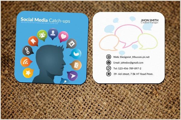 Social Media Marketing Best Business Cards Social Media Business Card Template 39 Free & Premium