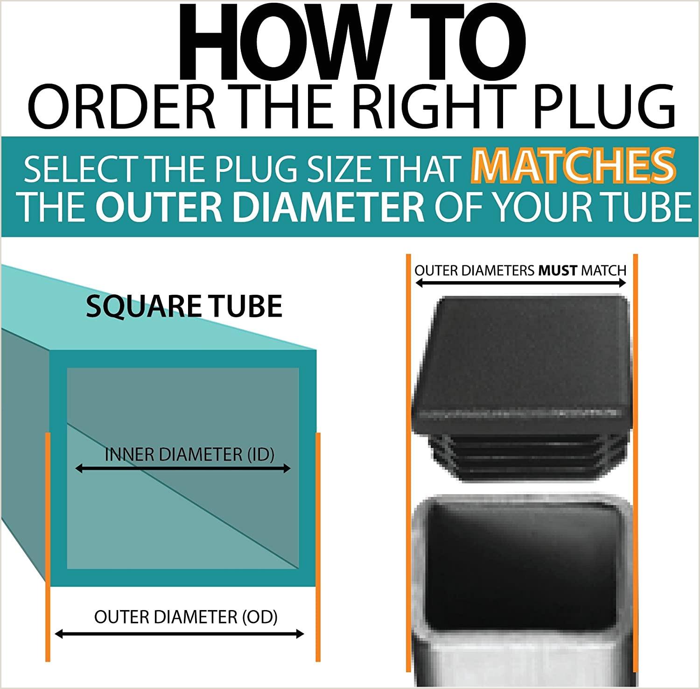 Square Unique Business Cards Prescott Plastics 3 4 Inch Square Plastic Plug Tubing Post End Cap Chair Glide 10