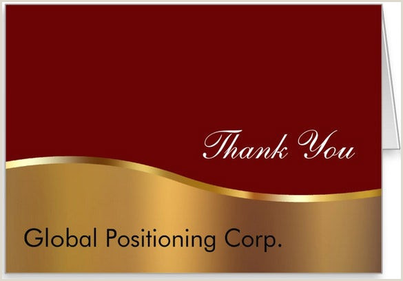 Thank You Business Cards Wording 18 Business Thank You Cards