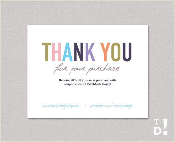 Thank You Business Cards Wording Business Thank You Cards Template Instant Download