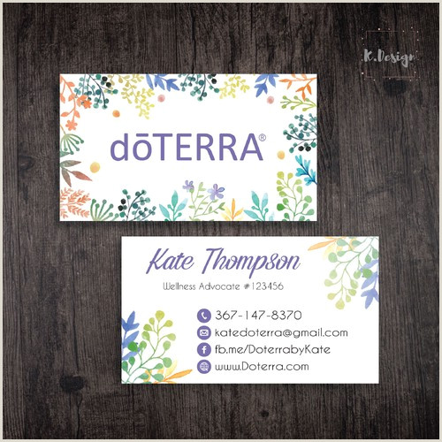 Thank You Business Cards Wording Personalized Doterra Business Cards Essential Oil Card Doterra Dt32