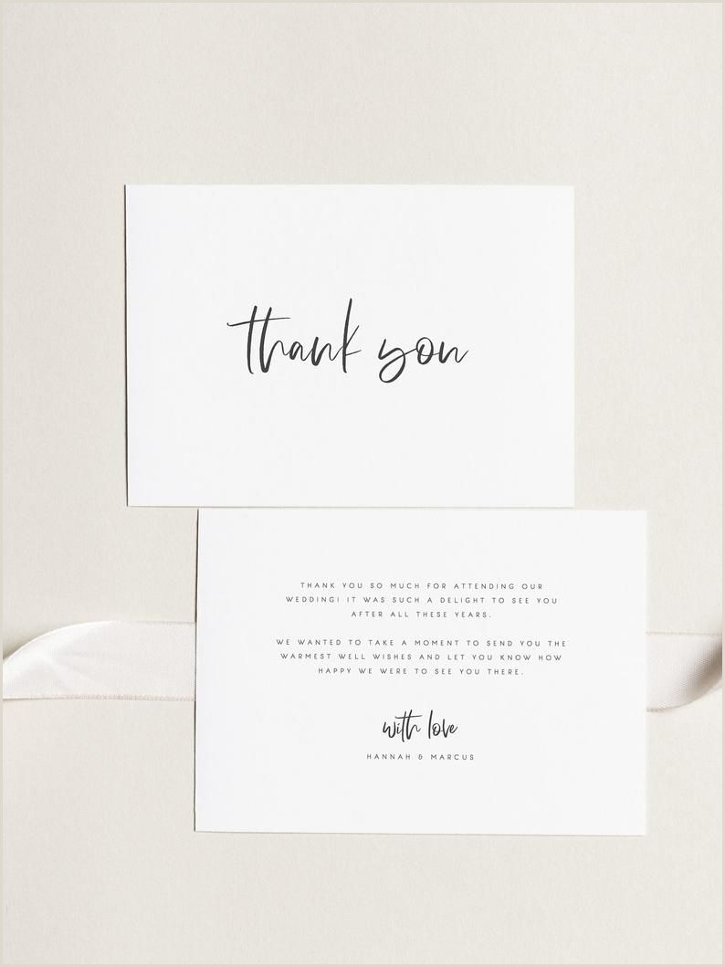 Thank You Business Cards Wording Printable Thank You Card Wedding Thank You Cards Instant