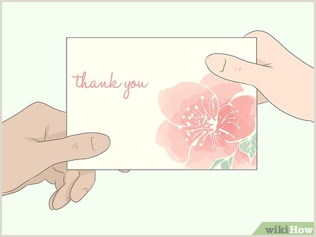 Thank You Card Design Ideas How To Write A Thank You Card For Flowers 12 Steps