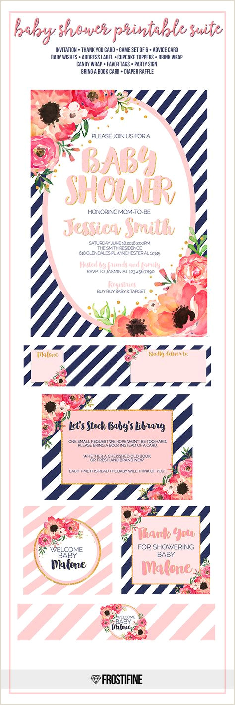 Thank You Card Designs Ideas Super Baby Shower Invitations For Girls Coral Pink Ideas