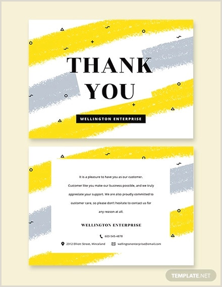 Thank You For Your Business Cards 18 Business Thank You Cards
