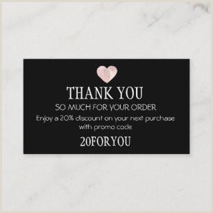 Thank You For Your Business Cards Thank You For Your Order Business Cards Business Card