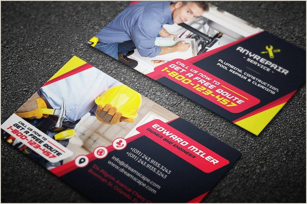 The Best Business Cards Construction 20 Construction Business Card Designs And Examples Psd