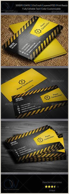 The Best Business Cards Construction 30 Best 25 Construction Business Card Template Psd And