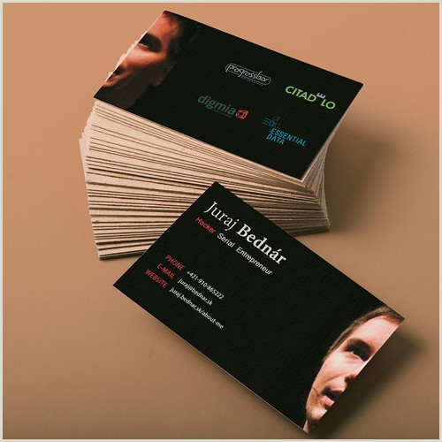 The Best Business Cards For Entrepreneuers Create A Unique Card For A Tech Serial Entrepreneur