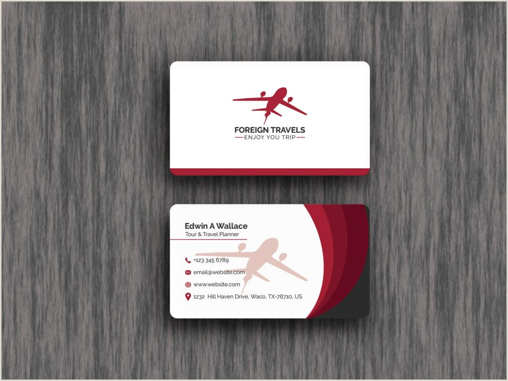 The Best Business Cards For Travel 5 Best Travel Agency Business Cards 2020