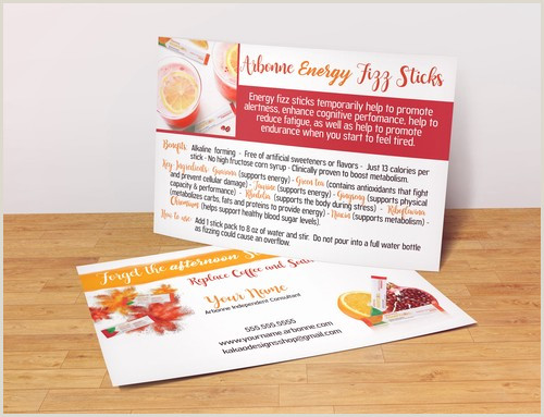 The Perfect Business Card 50 Arbonne Fizz Stick Sample Card Business Card