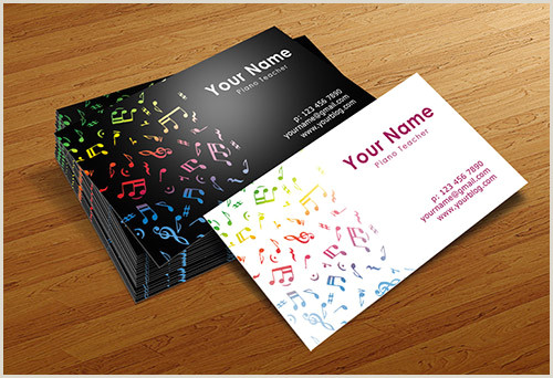 The Very Best Business Cards For Bands Pics 20 Fantastic Business Cards For Musicians