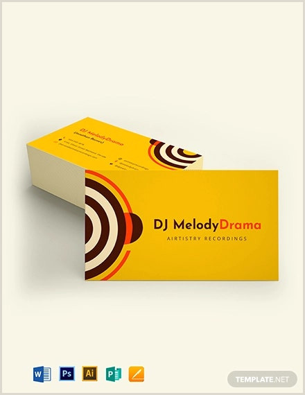The Very Best Business Cards For Bands Pics 26 Music Business Card Templates Psd Ai Word