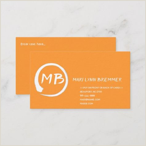 Things To Put On The Back Of A Business Card 100 Plain Monogram Business Cards Ideas
