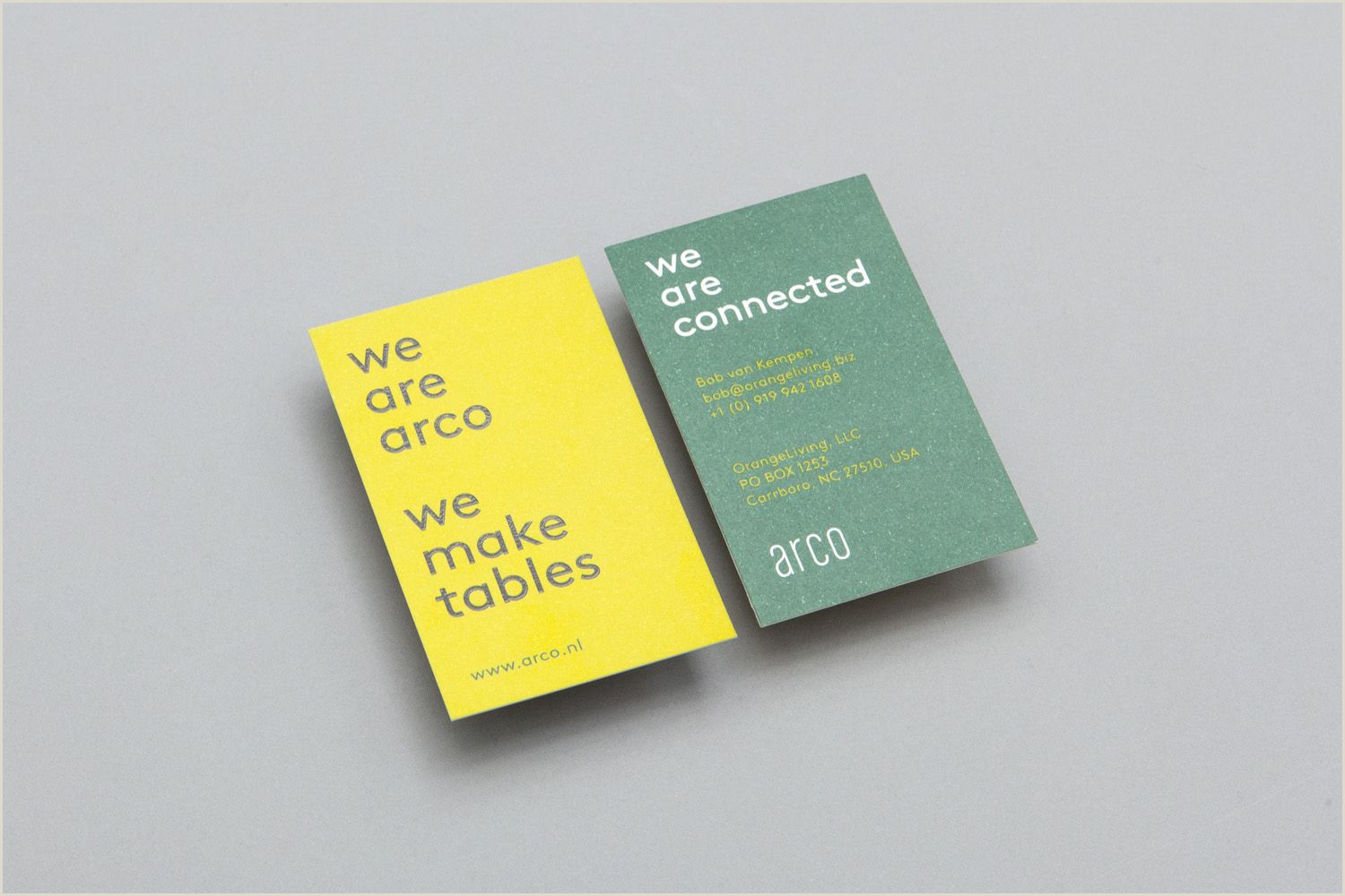 This Designer Designed These Unique Business Cards With Photos New Brand Identity For Arco By Raw Color — Bp&o